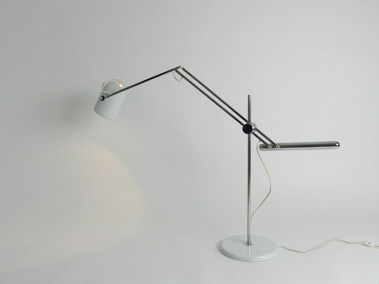 Articulating Desk Lamp By Reggiani Italy 1960s