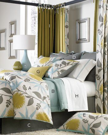 Legacy Home Dahlia Bedding and drapes - way too expensive, but