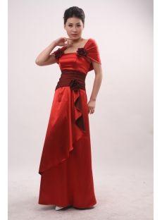 A-Line Bateau Cowl Long / Floor-Length Satin Evening Dress 3821