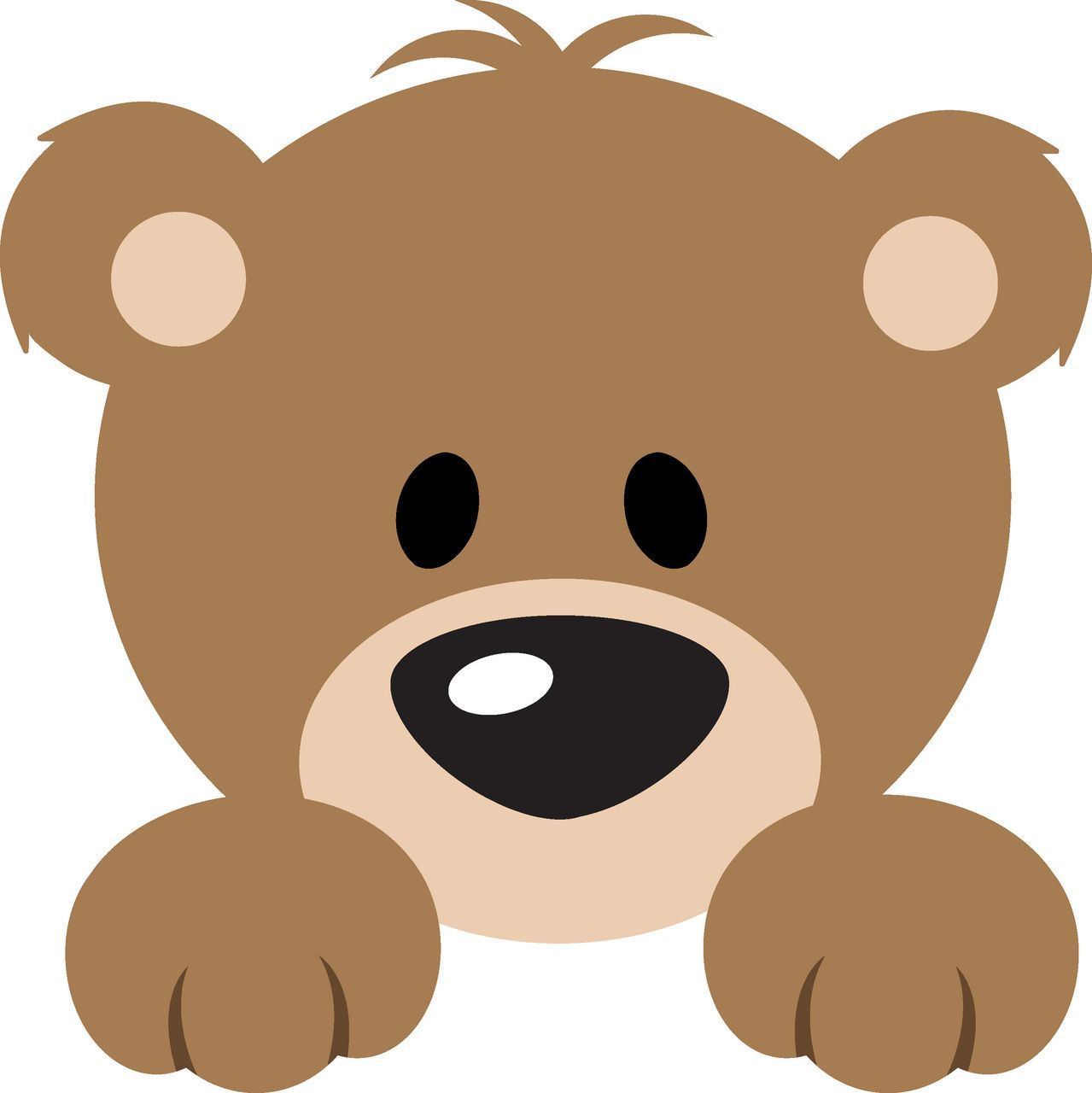 Bear Peeker L Svg Cutting File Selen Hayvan Boyama