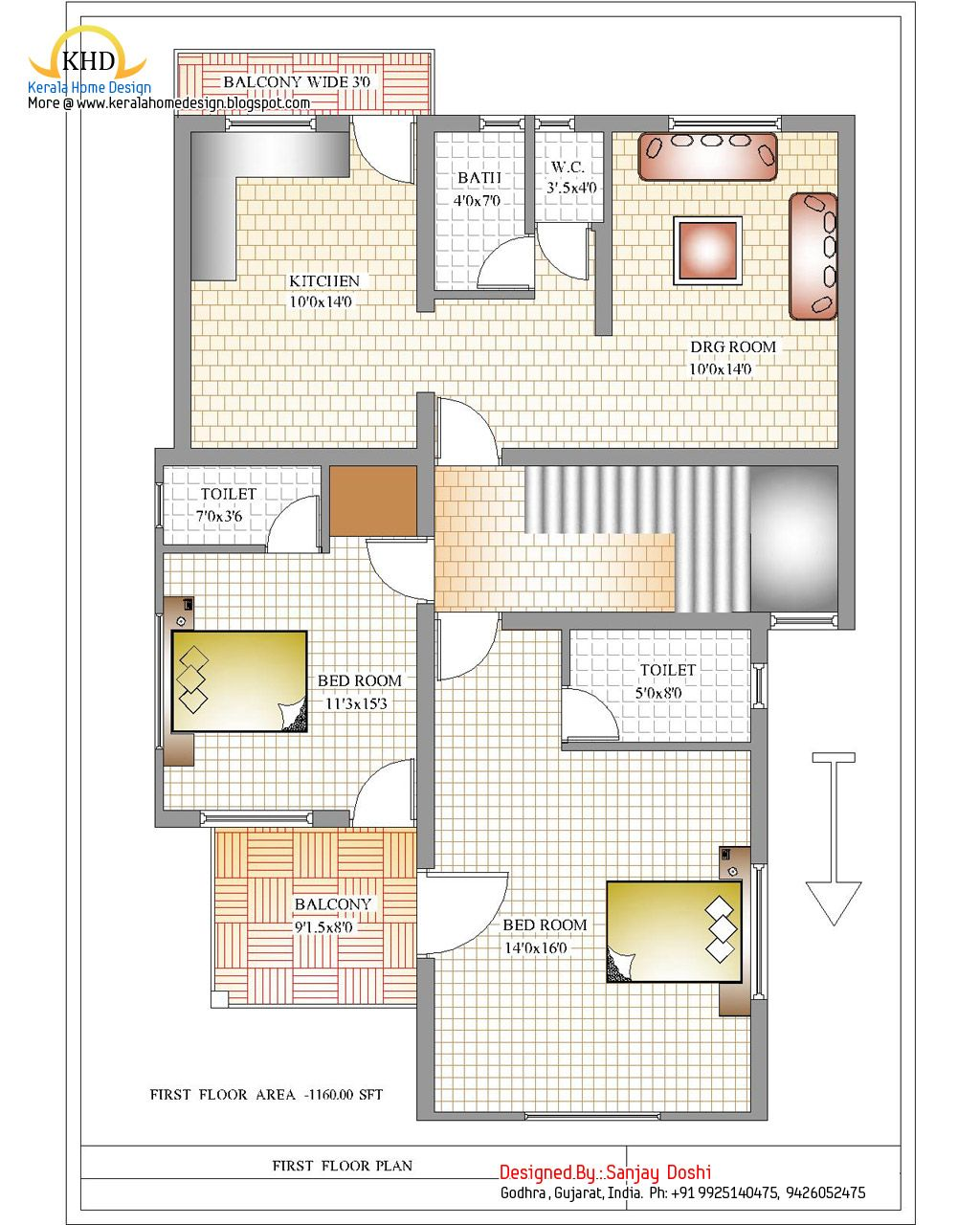 First Floor Elevation Designs : Duplex house plan and elevation first floor modern plans