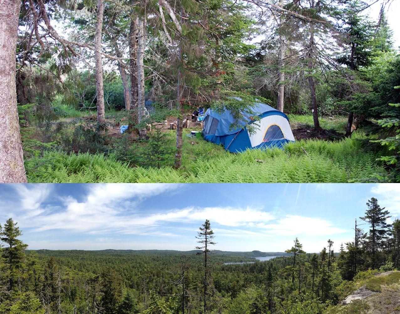 The River Island Wild Camp in Nova Scotia, Canada. The perfect adventure camping experience.