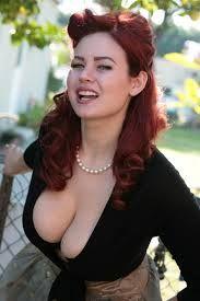 Pearl Chain Busty Redhead