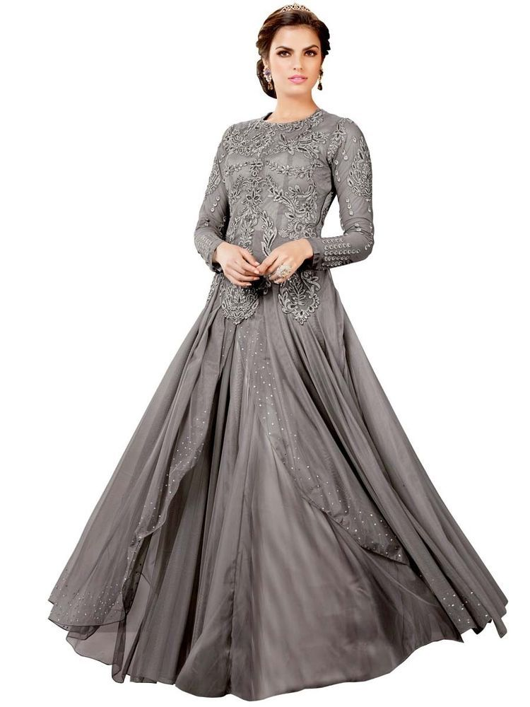 New Partywear Designer Long Dress & Indain Pakistani Bridal Gown ...