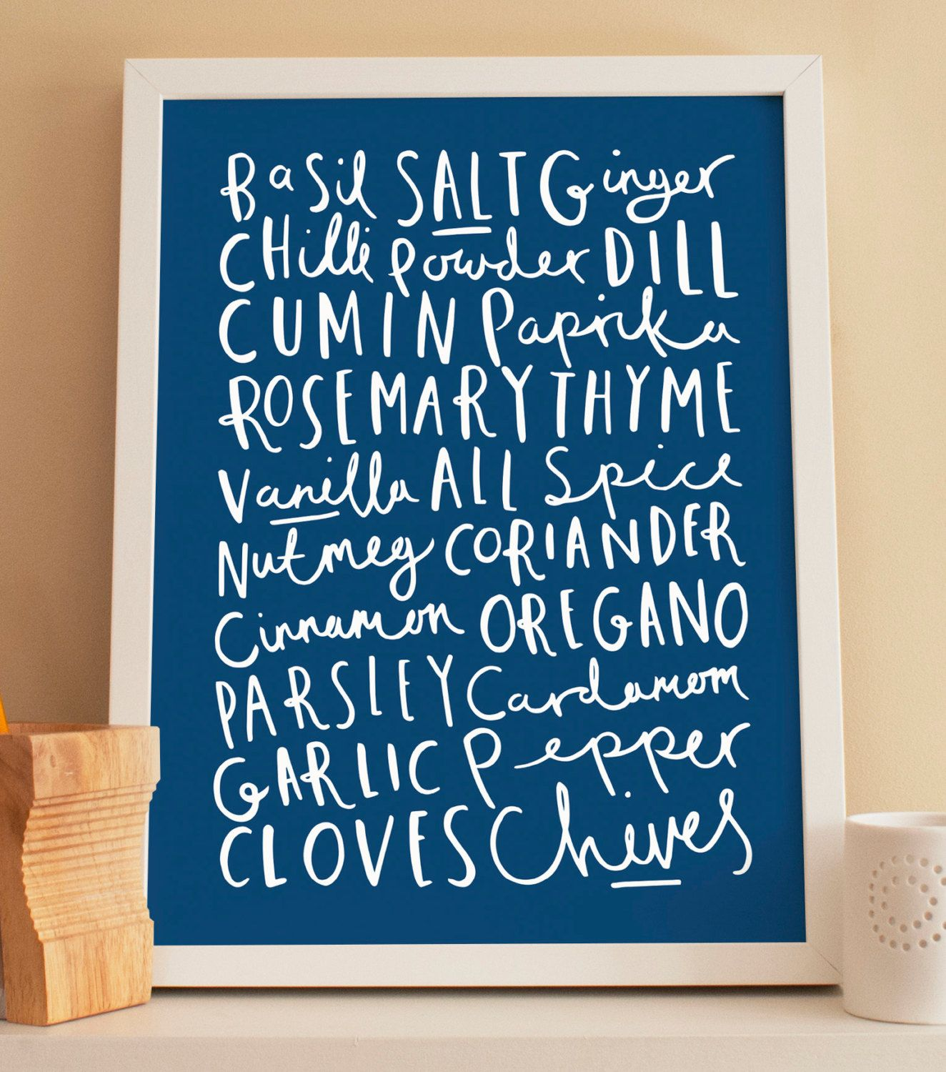 A4 Herb and Spice Print - kitchen print | Herbs, Print... and As