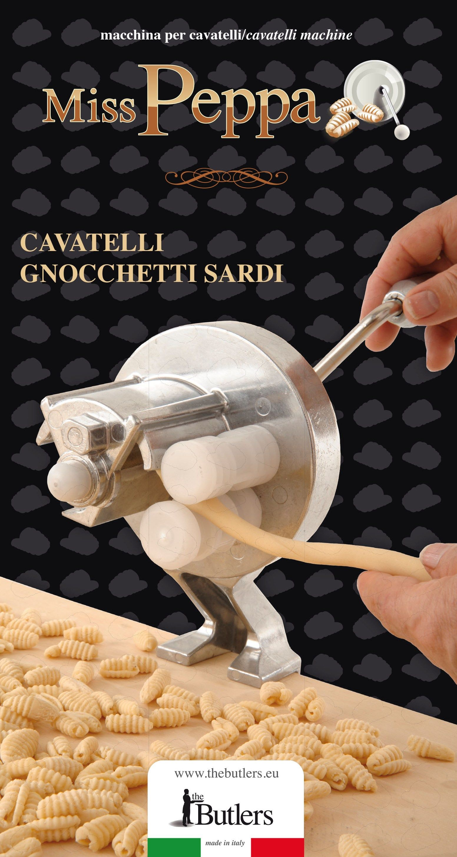 Voglia di pasta fatta in casa? Miss Peppa è la Macchina per cavatelli e gnocchetti sardi pratica e veloce da utilizzare.   Pasta Machine   #pasta
