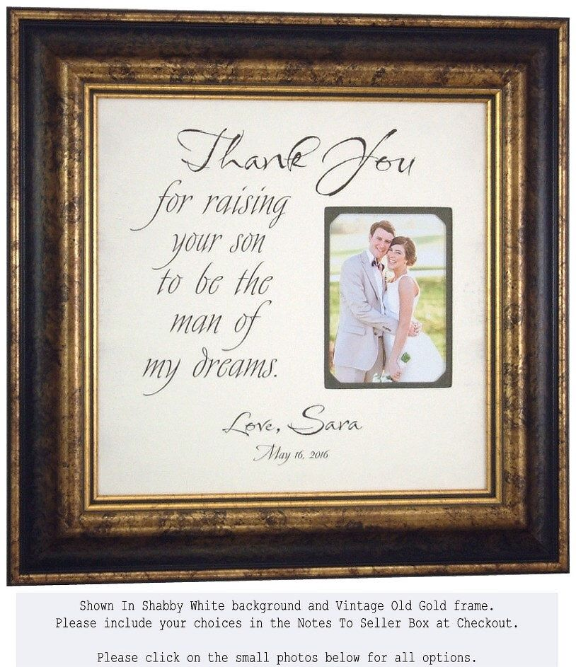 Wedding Picture Frame, Father of the Groom Gift, In Laws Gift ...