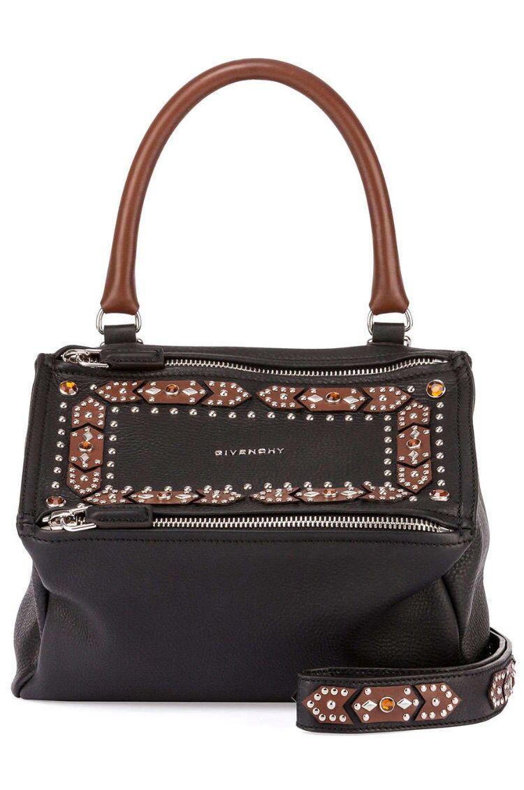 e5eb11d06c4e Givenchy Pandora studded black brown Satchel Bag