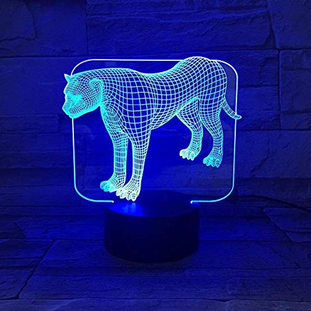 3d Optische Illusions Lampe 3d Illusion Lampe Transparent Acryl Led Nachtlicht Stehen Leopard Schreibtisch Lampara F Geschenke Fur Kinder Nachtlicht Handwerker