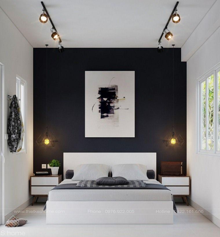 Noir et blanc 40 chambres coucher qui font r ver projets essayer chambre noir et blanc - Chambre a coucher noir et blanc ...