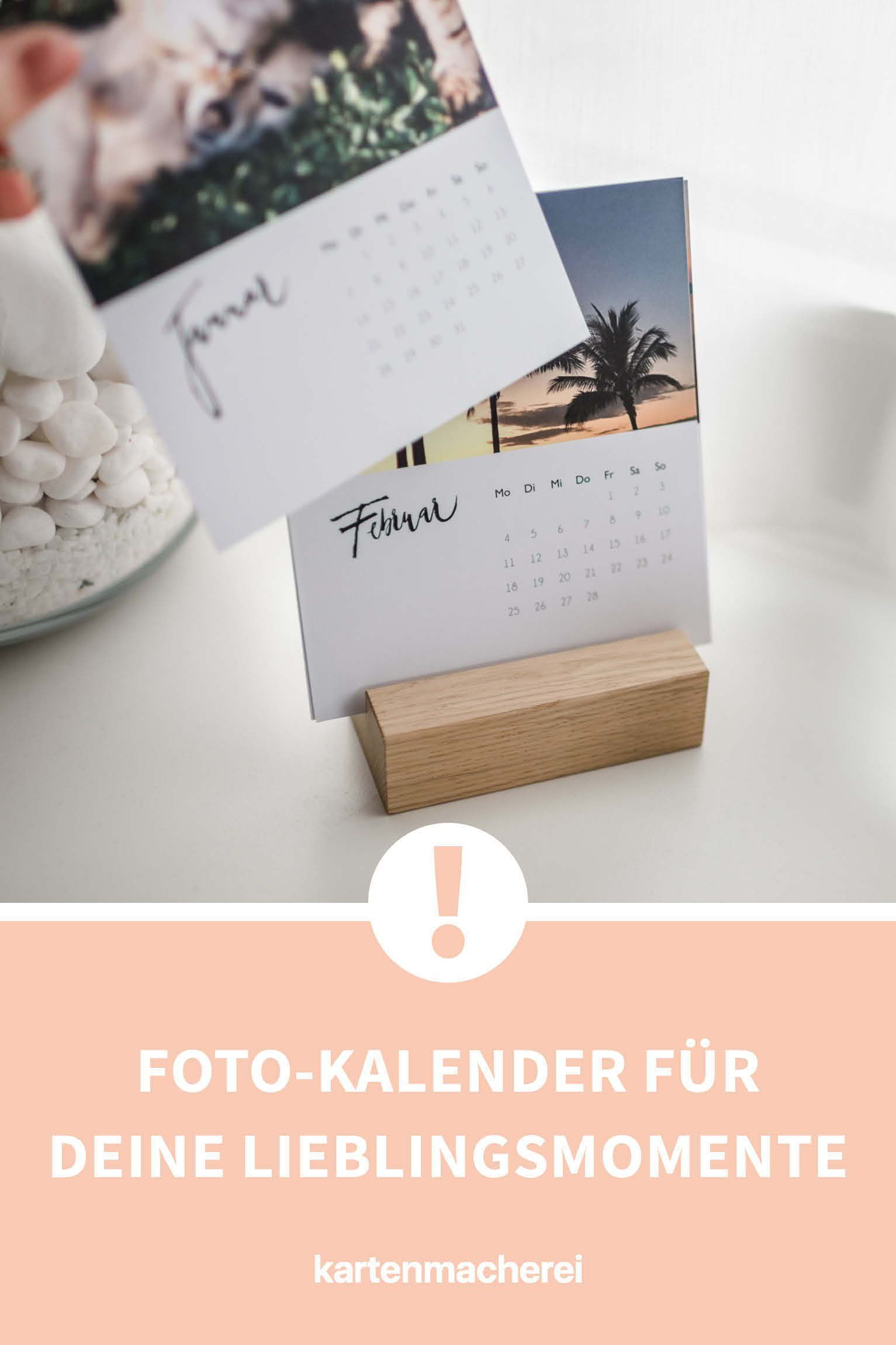 tischkalender modern lettering photo calendar desk calendars diy gifts