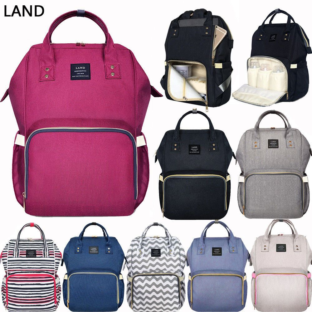 916e7648153b Details about GENUINE LAND Multifunctional Diaper Bags Mummy ...