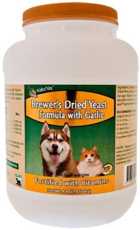 Natural Flea Tick Control No Poisons On My Dogs Naturvet Brewer S Yeast Garlic 4 Lb Powder This Supplement Co Vitamin C For Dogs Pet Health Pet Care