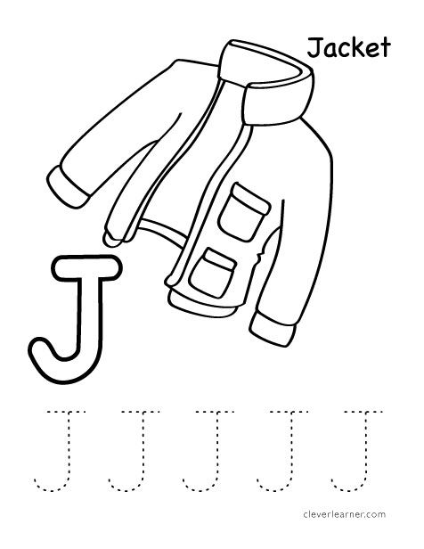 j is for jacket worksheets kg letter j crafts alphabet crafts lettering. Black Bedroom Furniture Sets. Home Design Ideas