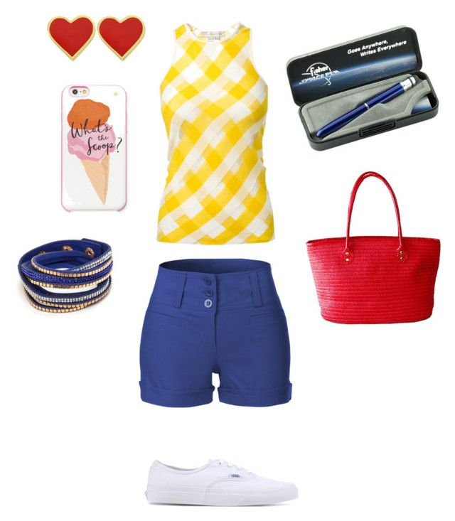 """""""Summer Sunshine"""" by spacepen-13 on Polyvore featuring STELLA McCARTNEY, LE3NO, Vans and Kate Spade"""