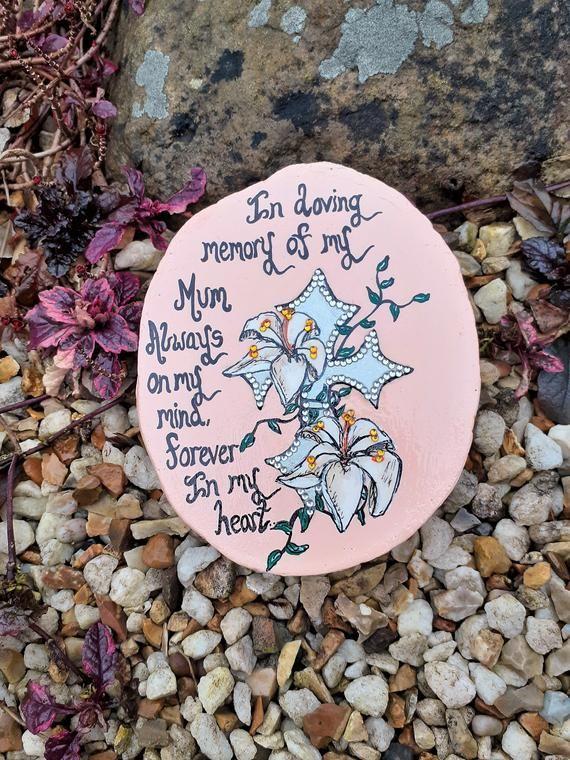 Memorial stone, in memory of mum gift, remebrance gift for