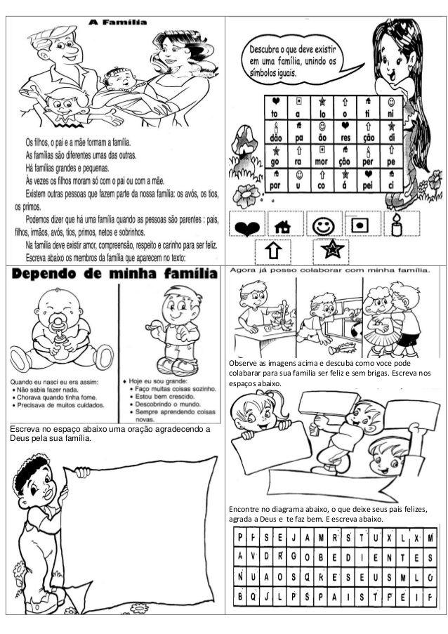 Atividades de Matemática, Português, ciências, Inglês e
