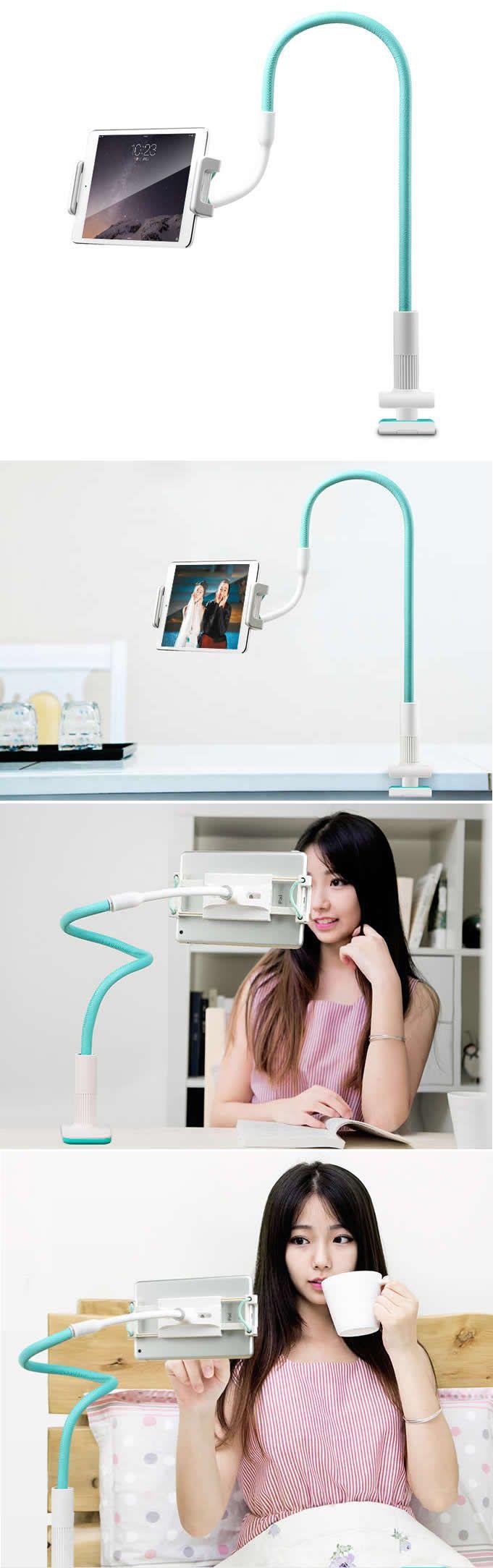 Flexible 360 Degrees Rotating Clip-on Table Bed Desk Mount Holder ...