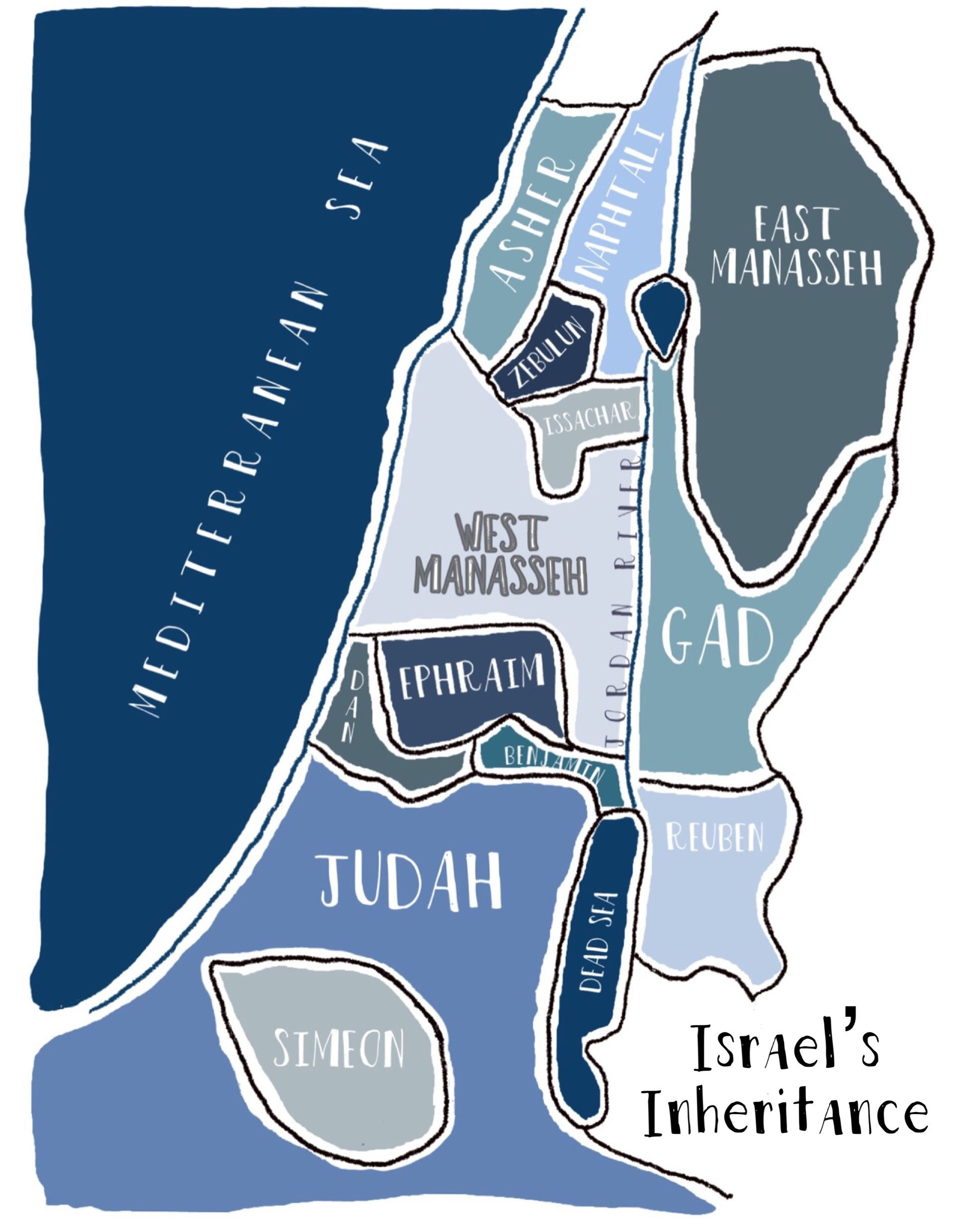 Map Of 12 Tribes Of Israel