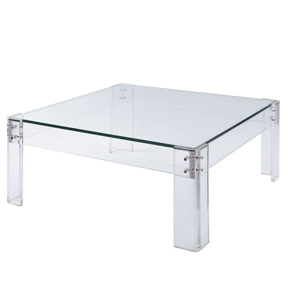 Disearing Coffee Table Lucite Tables