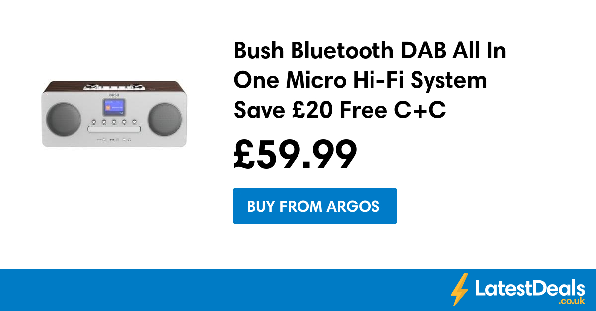 Sound & Vision Bush Dab All-in-one Bluetooth Micro Hi-fi System
