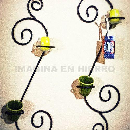 Resultado de imagen para maceteros de pared de hierro - Maceteros para pared ...