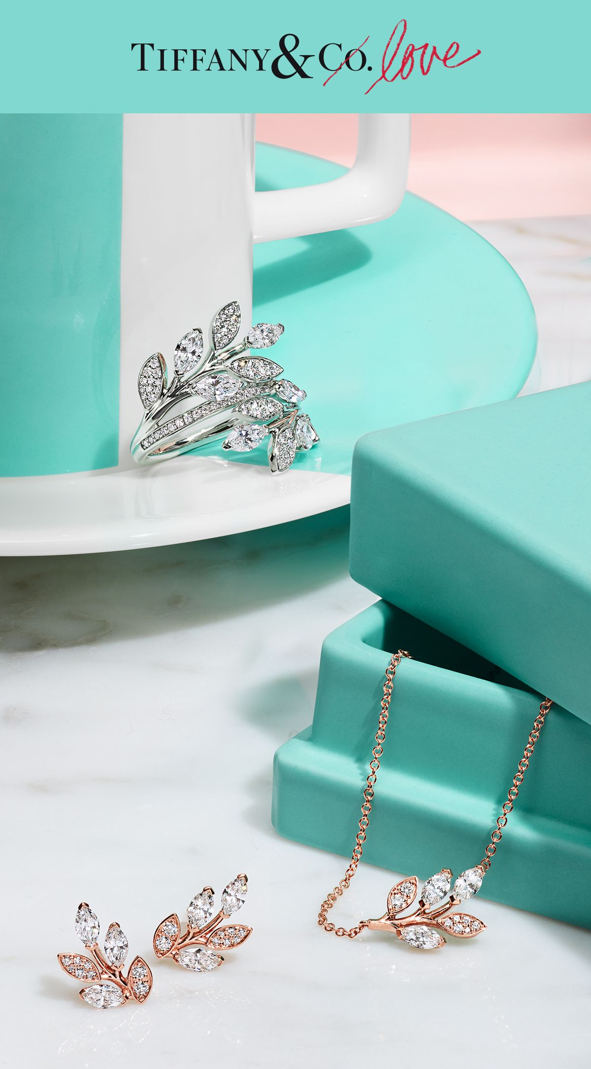 New designs from the Tiffany Victoria® vine collection are