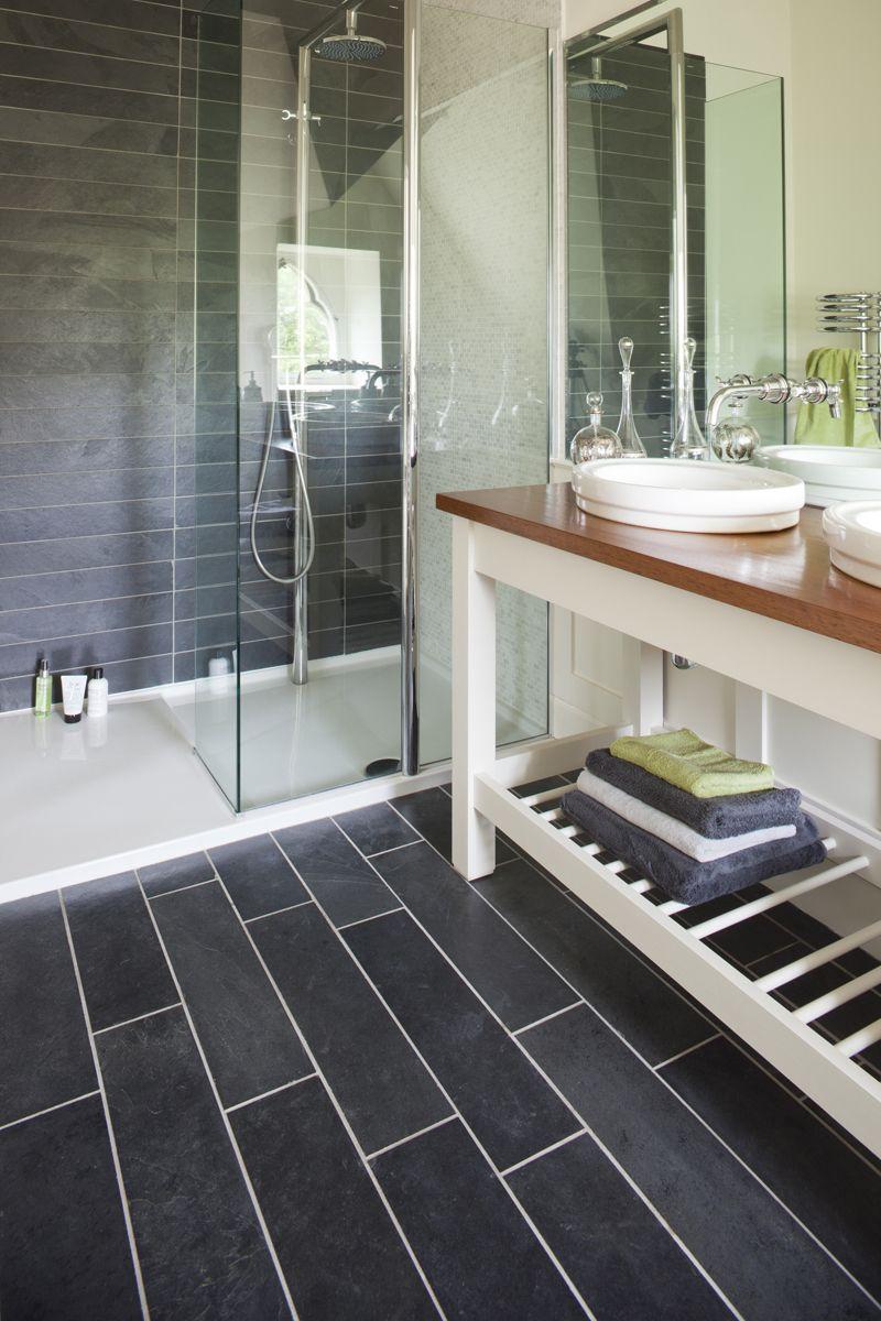 Slate tiles in bathroom - Tile