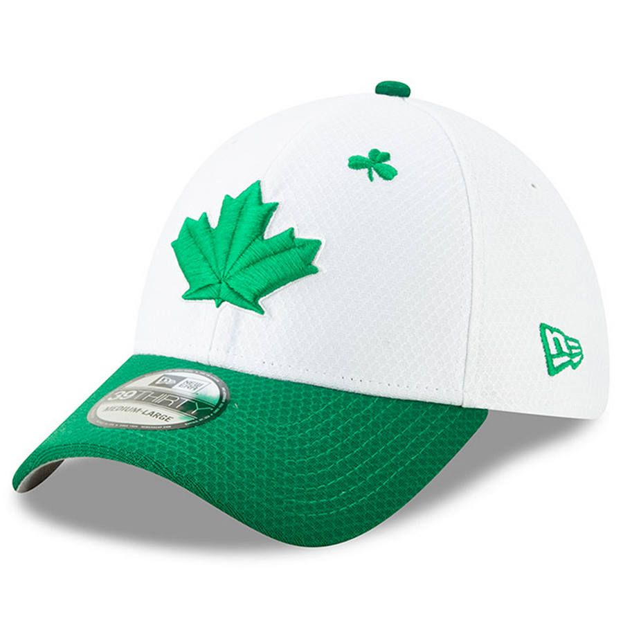 eb2aaa03dfa Men s Toronto Blue Jays New Era White Kelly Green 2019 St. Patrick s Day  39THIRTY Flex Hat