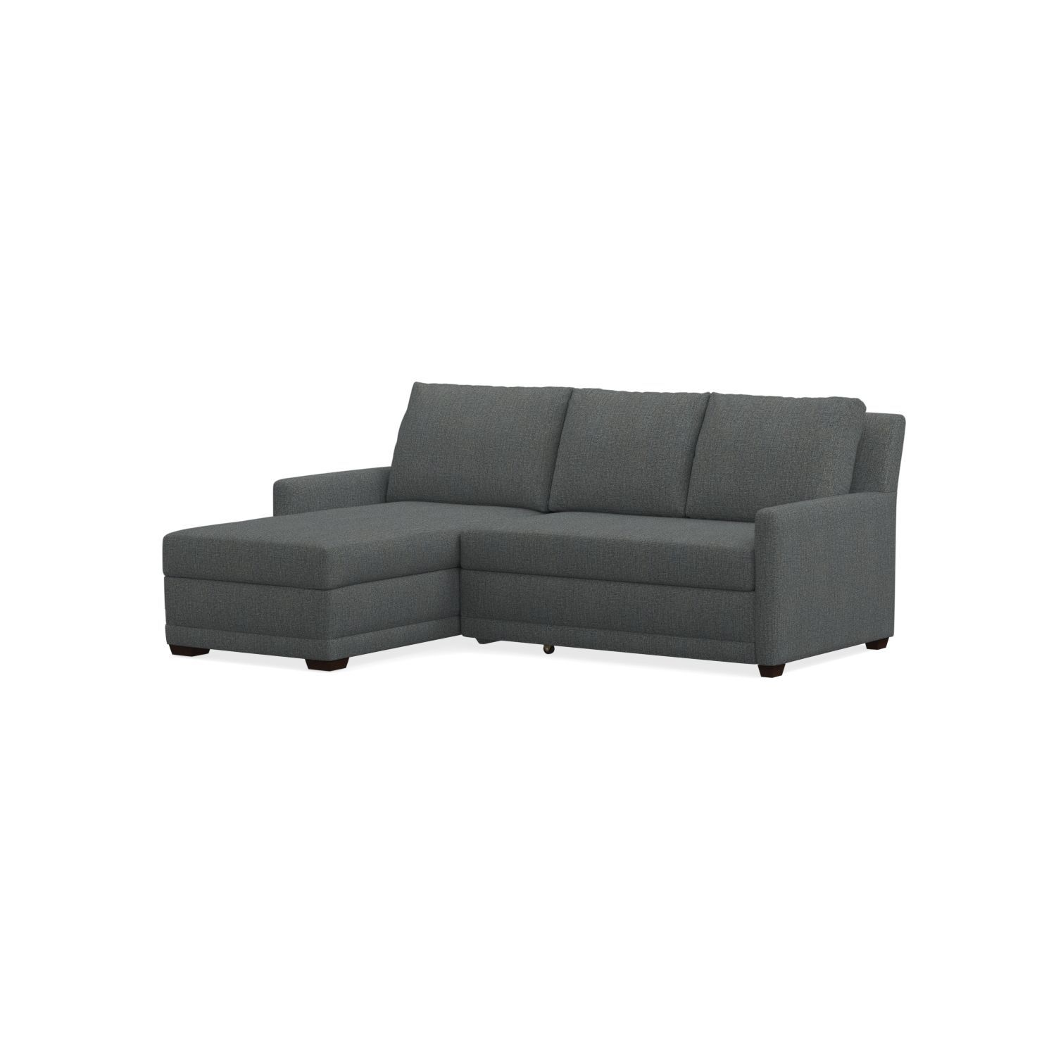 Groovy Reston 2 Piece Left Arm Chaise Trundle Sleeper Sectional Gmtry Best Dining Table And Chair Ideas Images Gmtryco