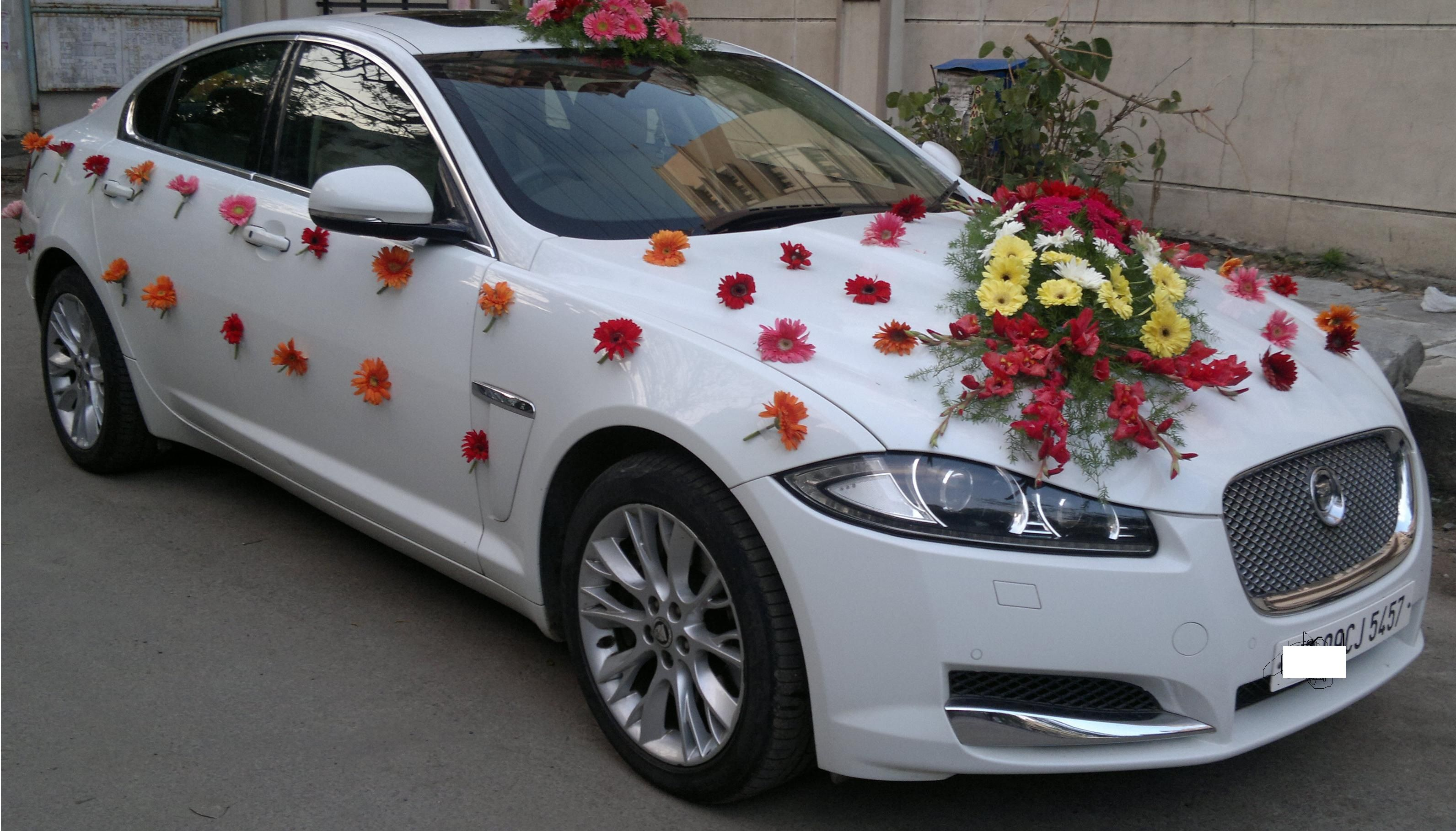 Inspiration Car Decoration For Wedding With Pressed Flowers On