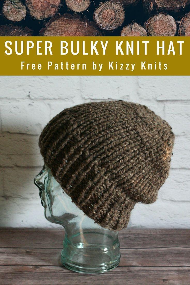 Kizzy Knits: FREE Pattern: Classic Super Bulky Knit Hat | Knit Hat ...
