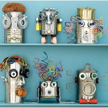 para hacer con nios robots reciclados fciles para nios