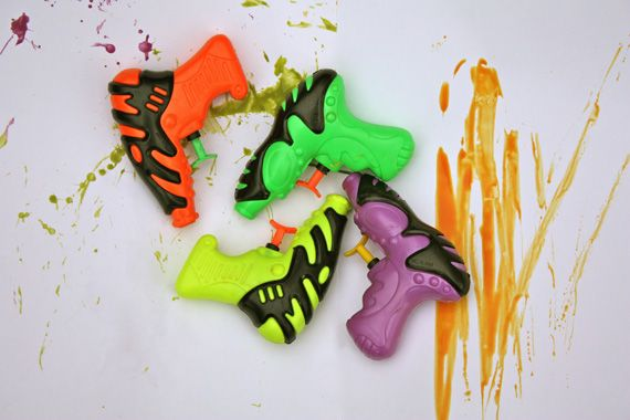 great idea..put paint and then squirt on paper!