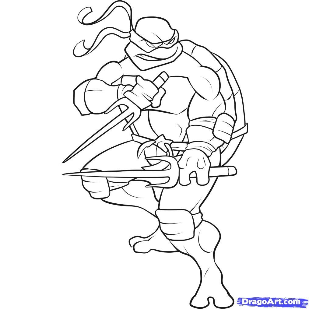 How to Draw a Ninja Turtle Step