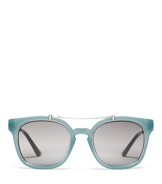 Tory Burch Metal Brow-bar Sunglasses