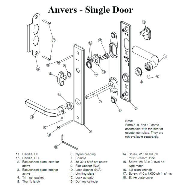 Door Hardware Parts Names Door Hardware Parts Modernist Door Hardware Parts 2 Classy Captures Kit Single Active In 2020 Hardware Components Door Hardware Single Doors