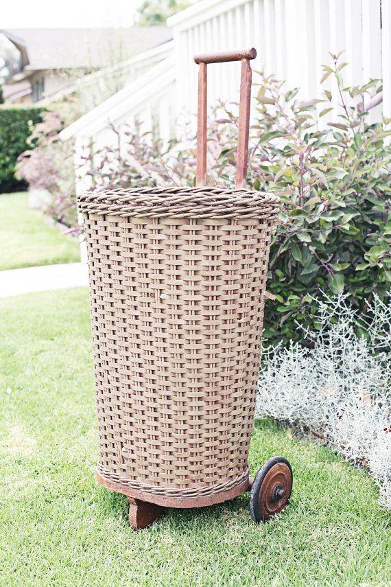 Rolling Market Basket Basket Wicker Basket Creative Basket Ideas