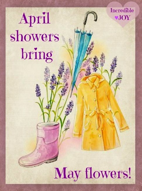 April showers bring May flowers quote via