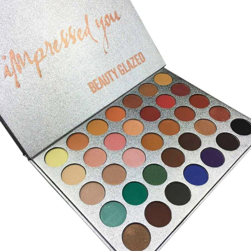 Eye Shadow Beauty Glazed 9 Color Makeup Eyeshadow Pallete Makeup Brushes Make Up Palette Nude Pigmented Eye Shadow Palette Maquillage Kit Wide Varieties