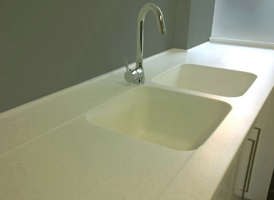 One Piece Corian Sink And Countertop Corian Countertops Sink