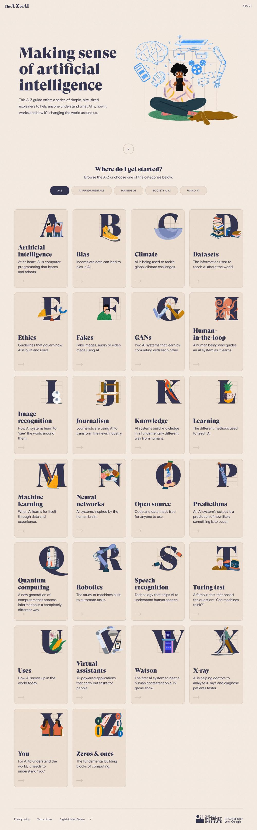 The A Z Of Ai Landing Page Design Inspiration Lapa Ninja