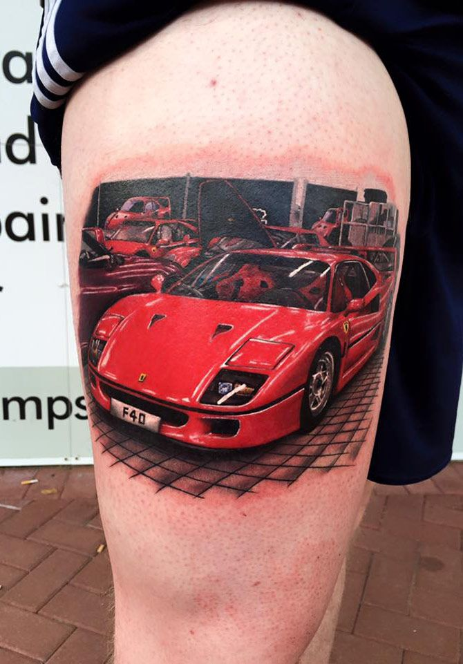 Pin by Tattoo Ideas on | Tattoo designs, Ferrari f40, Best ...