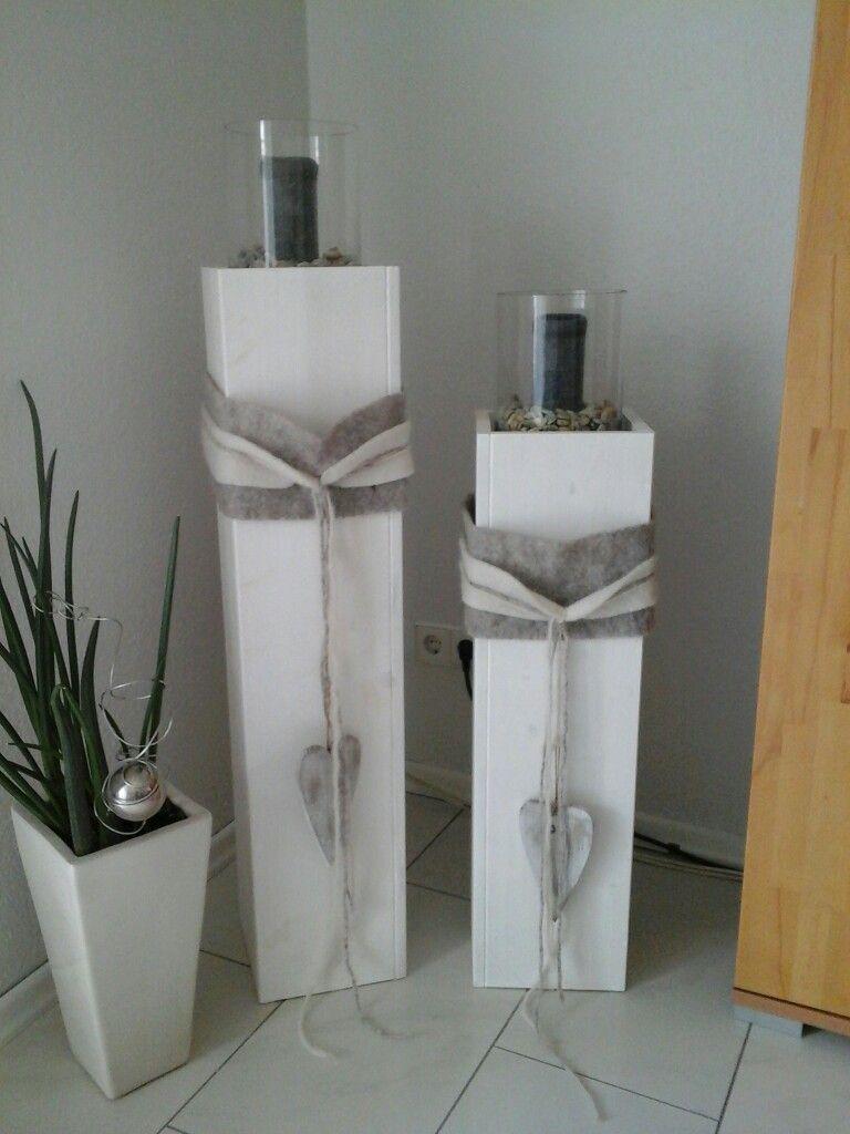 How To Make An Interesting Art Piece Using Tree Branches Ehow Holzsaule Deko Deko Holz Holzstamm Deko