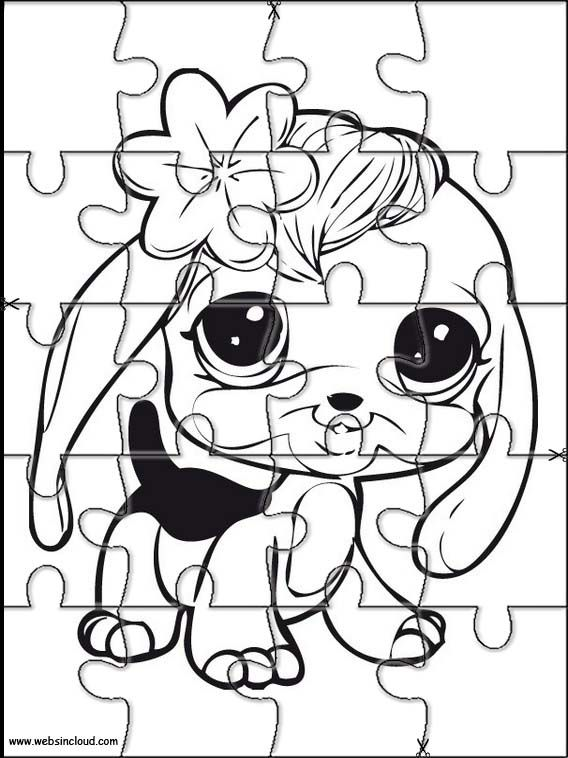 Printable jigsaw puzzles to cut out for kids Littlest pet shop 26 ...