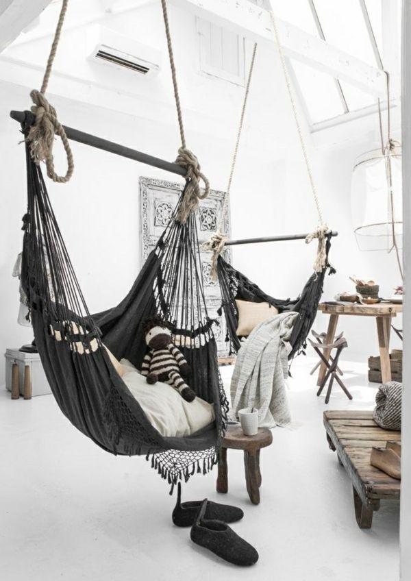 coole innendesign ideen landhausstil hängematten hängesessel ...