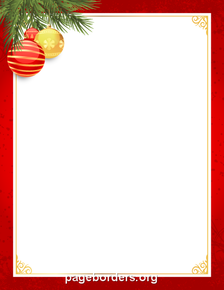 Printable red and gold Christmas border. Use the border in ...
