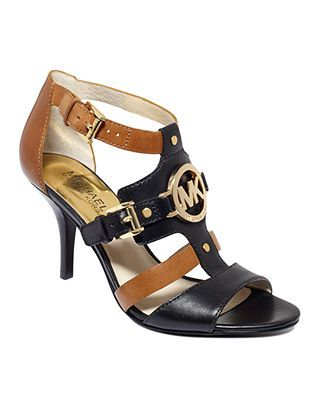 fd7a5b478 MICHAEL Michael Kors Shoes, Rustin Mid Heel Sandals - All Women's Shoes -  Shoes - Macy's