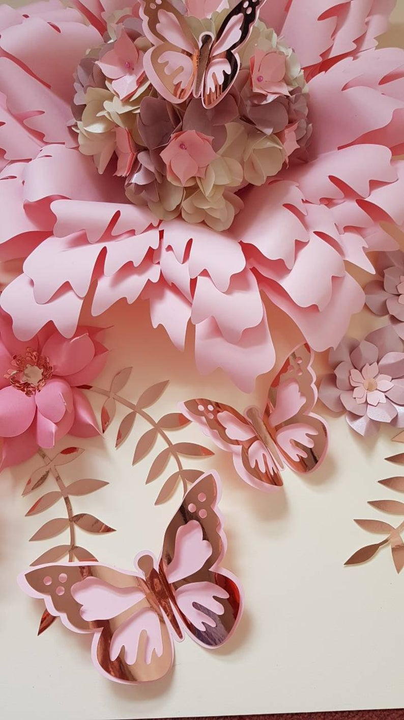 Paper Flowers backdrop/set/Nursery decor/girls room decor/table decor/ wedding decor /home decor/birthday /baby shower/bridal shower