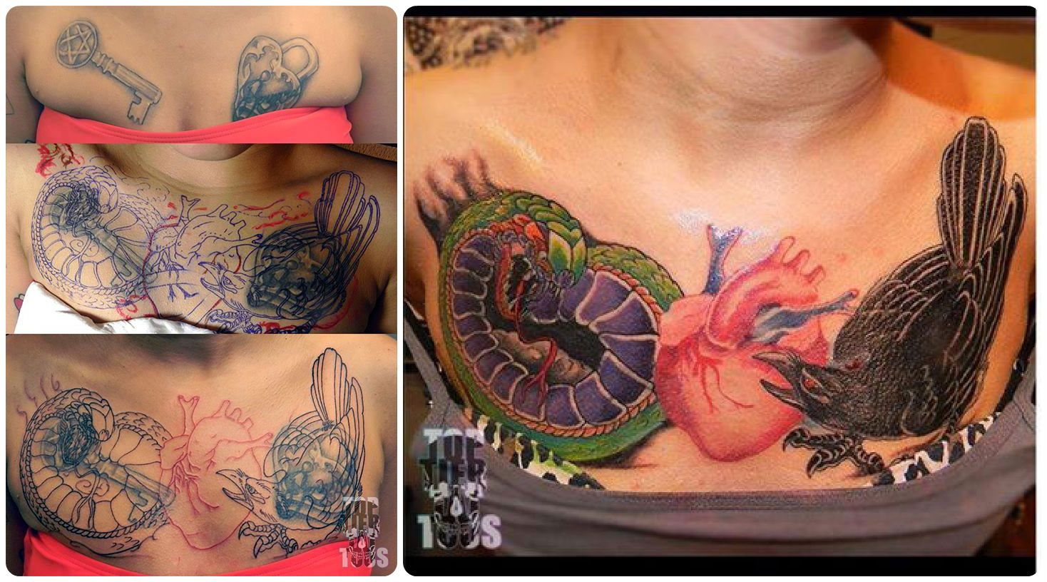 Coverup chest piece by carlos garza click on the image for Chest cover up tattoos